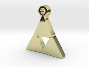 Delta Triangle Pendant in 18k Gold