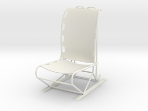 1.4 LAMA PILOT SEAT SINGLE in White Natural Versatile Plastic