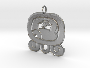 Kej Nahual Pendant (precious metals only) in Raw Silver