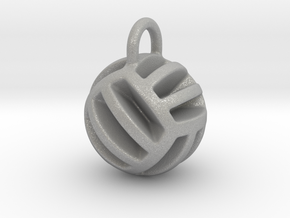 DRAW pendant - volleyball style 2 in Aluminum