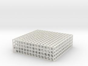 Maze 03, 2x7x7, 'Slab' in White Strong & Flexible: Medium