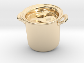 Big Pot Pendant in 14K Yellow Gold