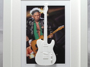Telecaster guitar for photo frame in White Strong & Flexible Polished