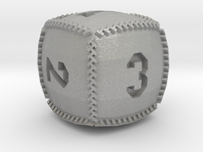 Baseball D6 in Raw Aluminum