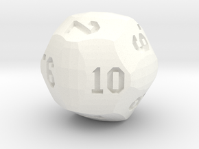 Volleyball D12 in White Processed Versatile Plastic