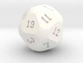 Soccer D20 in White Strong & Flexible Polished