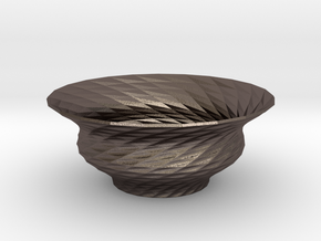 Bowl  in Polished Bronzed Silver Steel
