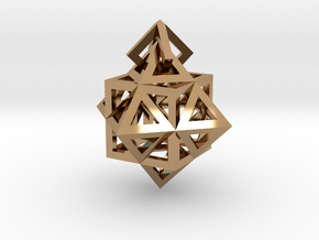 Gamma Star Earring in Polished Brass (Interlocking Parts)
