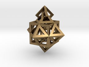 Gamma Star Earring in Natural Bronze (Interlocking Parts)