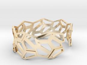 STEIN Cuff Bracelet in 14k Gold Plated Brass: Medium