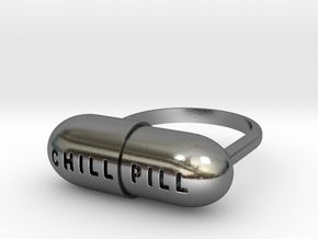 CHILL PILL RING in Polished Silver: 5 / 49