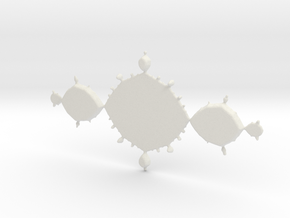 Fractal Tri-Polygon - Polished Bronze in White Natural Versatile Plastic: Small