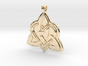 Celtic Knot 2 Pendant in 14k Gold Plated Brass