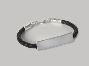 De-Signed Bracelet in Rhodium Plated Brass