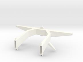 Antennemast, schaal 1:20 in White Processed Versatile Plastic
