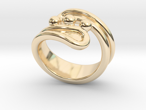 Threebubblesring 15 - Italian Size 15 in 14K Yellow Gold