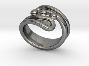 Threebubblesring 16 - Italian Size 16 in Fine Detail Polished Silver