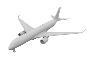 1:500 - A350-900 in Smooth Fine Detail Plastic