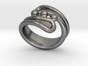 Threebubblesring 17 - Italian Size 17 in Fine Detail Polished Silver