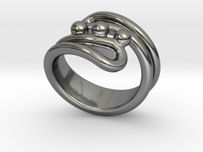 Threebubblesring 18 - Italian Size 18 in Fine Detail Polished Silver