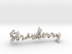 Strawberry Strawberry Necklace in Platinum