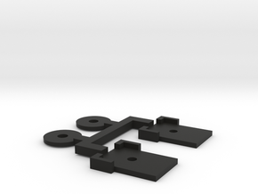 HO Budd BURT Coupler Covers And Washers in Black Natural Versatile Plastic