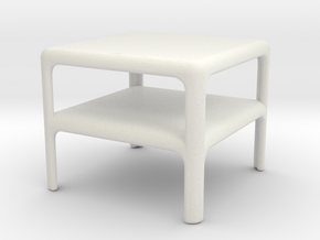 Stack of 2 Demetrio 45 Tables (Space: 1999), 1/30 in White Natural Versatile Plastic