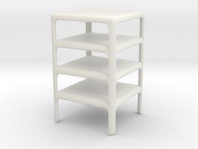 Stack of 4 Demetrio 45 Tables (Space: 1999), 1/30 in White Natural Versatile Plastic