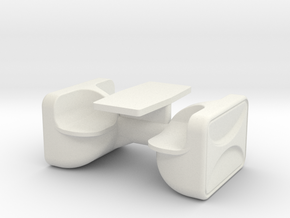 Unibloc 4 Table (Space: 1999), 1/30 in White Natural Versatile Plastic