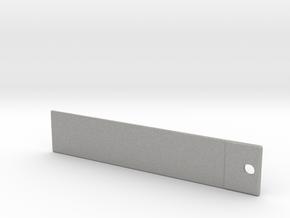 DRAW bookmark - plain vanilla in Aluminum