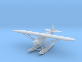 Piper PA18 Float Plane - Zscale in Smooth Fine Detail Plastic