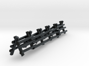 3 Rail A Frame Fence in Black Hi-Def Acrylate