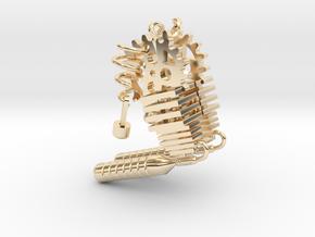 Steampunk Earring Set in 14k Gold Plated Brass