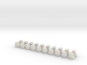 Datamax Feed Buttons in White Natural Versatile Plastic