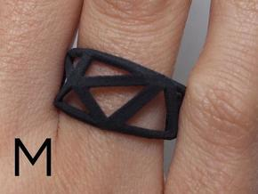 Comion ring medium  in Black Natural Versatile Plastic
