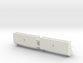 1/16 M31 Tow Hook Brackets in White Natural Versatile Plastic