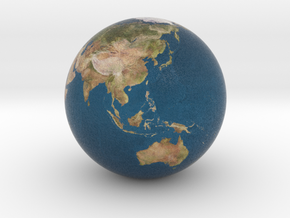 Earth Globe in Full Color Sandstone