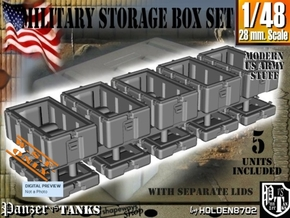 1-48 Military Storage Box Set in White Processed Versatile Plastic