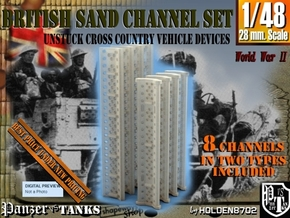 1-48 British Sand Channel Set in Smooth Fine Detail Plastic