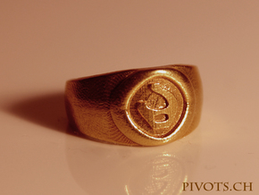 4 Elements - Fire Ring in Natural Brass