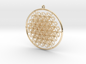 CCI Pendant in 14k Gold Plated Brass
