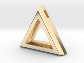 Chisel ::: Triangle Pendant ::: v.01 in 14k Gold Plated Brass
