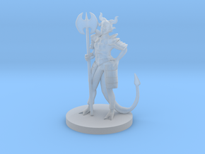 Tiefling Female Death Cleric in Smooth Fine Detail Plastic