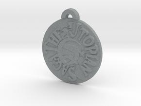 Utopian Saga Pendant  in Polished Metallic Plastic: Medium