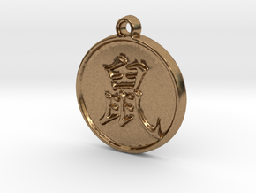 Rat - Traditional Chinese Zodiac (Pendant) in Natural Brass