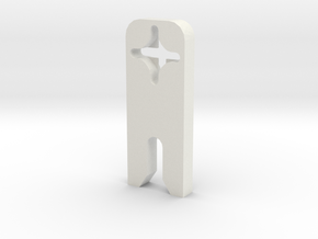 Door Dog in White Natural Versatile Plastic