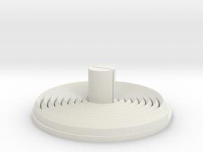 Minolta 16 Processing Tank Reel Bottom in White Natural Versatile Plastic