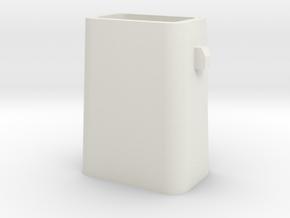 Stahlkokille 2 Zapfen längs ohne Boden 1:120 in White Strong & Flexible
