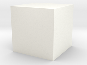 Hollow Cube 3 cm edge length in White Processed Versatile Plastic