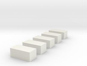 Strohballen klein 5er Set 1:120 in White Natural Versatile Plastic